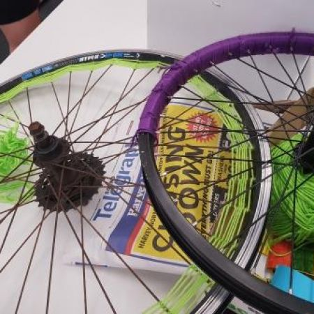 Bike wheel dream catchers