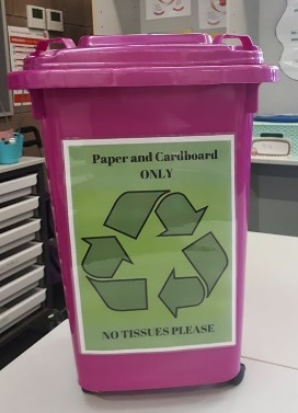 Classroom paper recycling