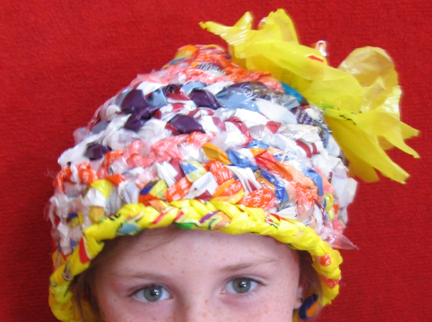 Plastic bag hat - 2016 wearable waste theme