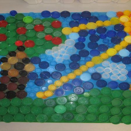 Bottle top  mosaic - Gardens Alive! theme