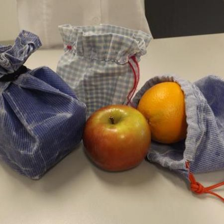 Upcycled produce bags - 2015 food theme